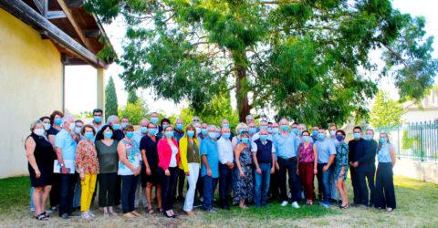 Photo de groupe des élus du pays de Lunel - septembre 2020