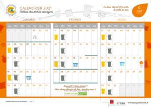 Calendrier de collectes 2021 - Lunel Sud-Est