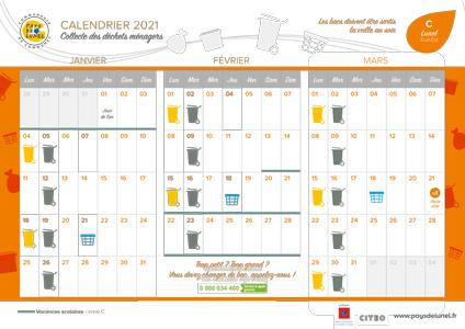Télécharger le calendrier de collectes 2021 - Lunel Sud-Est