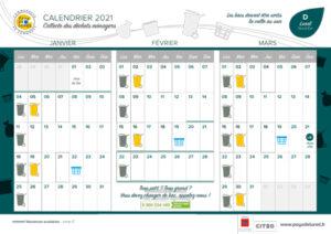 Calendrier de collectes 2021 - Lunel Nord-Est