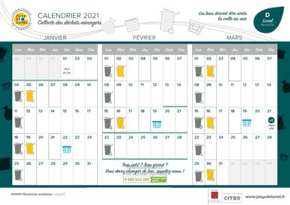 Téléchargez le calendrier de collectes 2021 - Lunel Nord-Est
