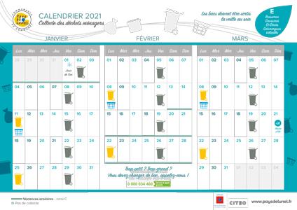 Télécharger le calendrier de collectes, hors centre-ville, pour Boisseron, Saint-Sériès, Saturargues, Saussines et Villetelle