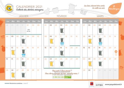 Télécharger le calendrier de collectes 2021 de Marsillargues hors centre-ville