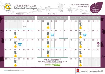 Télécharger le calendrier de collectes des centre-villes de St-Just et St-Nazaire