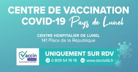 Centre de vaccination contre le COVID-19 du Pays de Lunel