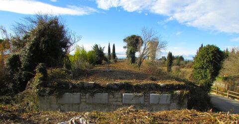 Travaux pour la voie verte, sur le pont du chemin des Ortolans à Masillargues