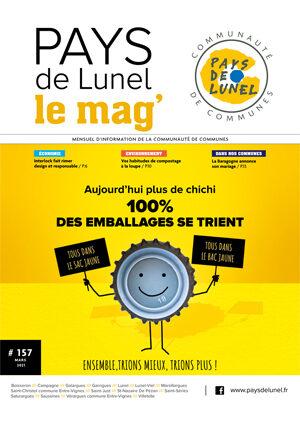 Votre Pays de Lunel le mag' n° 157 de mars 2021