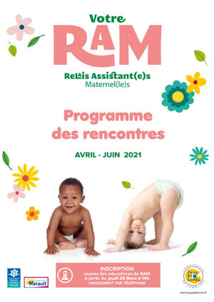 Programme du Relais d'Assistants Maternels du Pays de Lunel d'avril à juin 2021