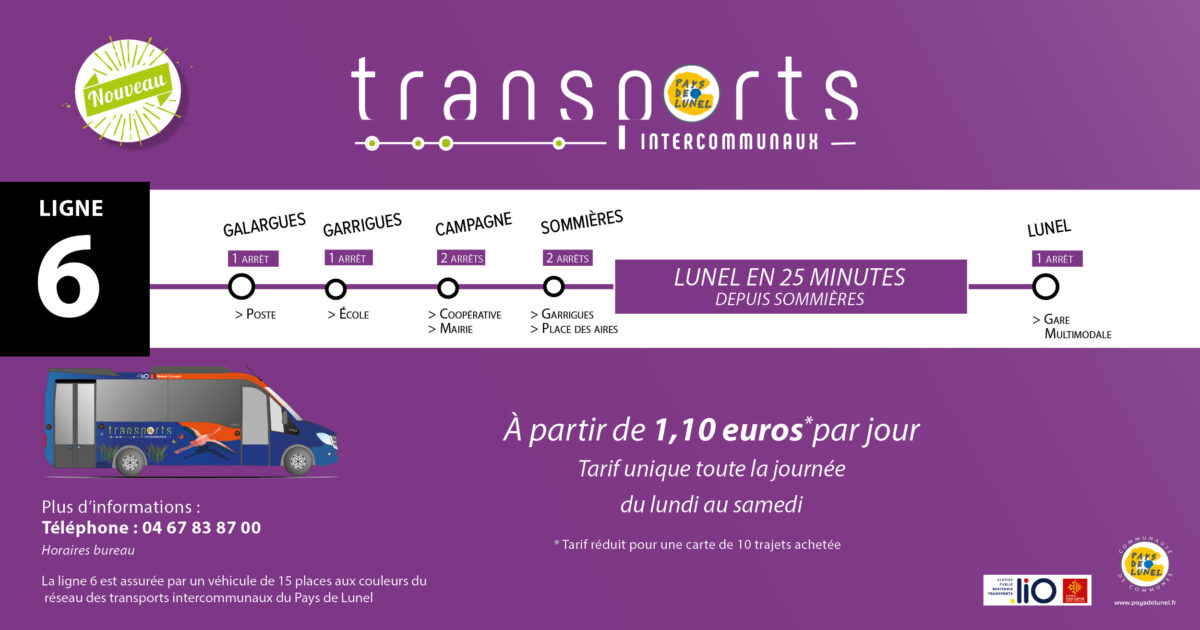 Ouverture de la ligne 6 des transports intercommunaux du Pays de Lunel