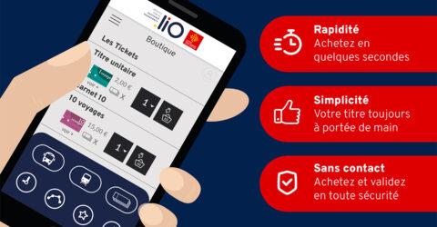 Achetez vos tickets de transports sur l'appli liO