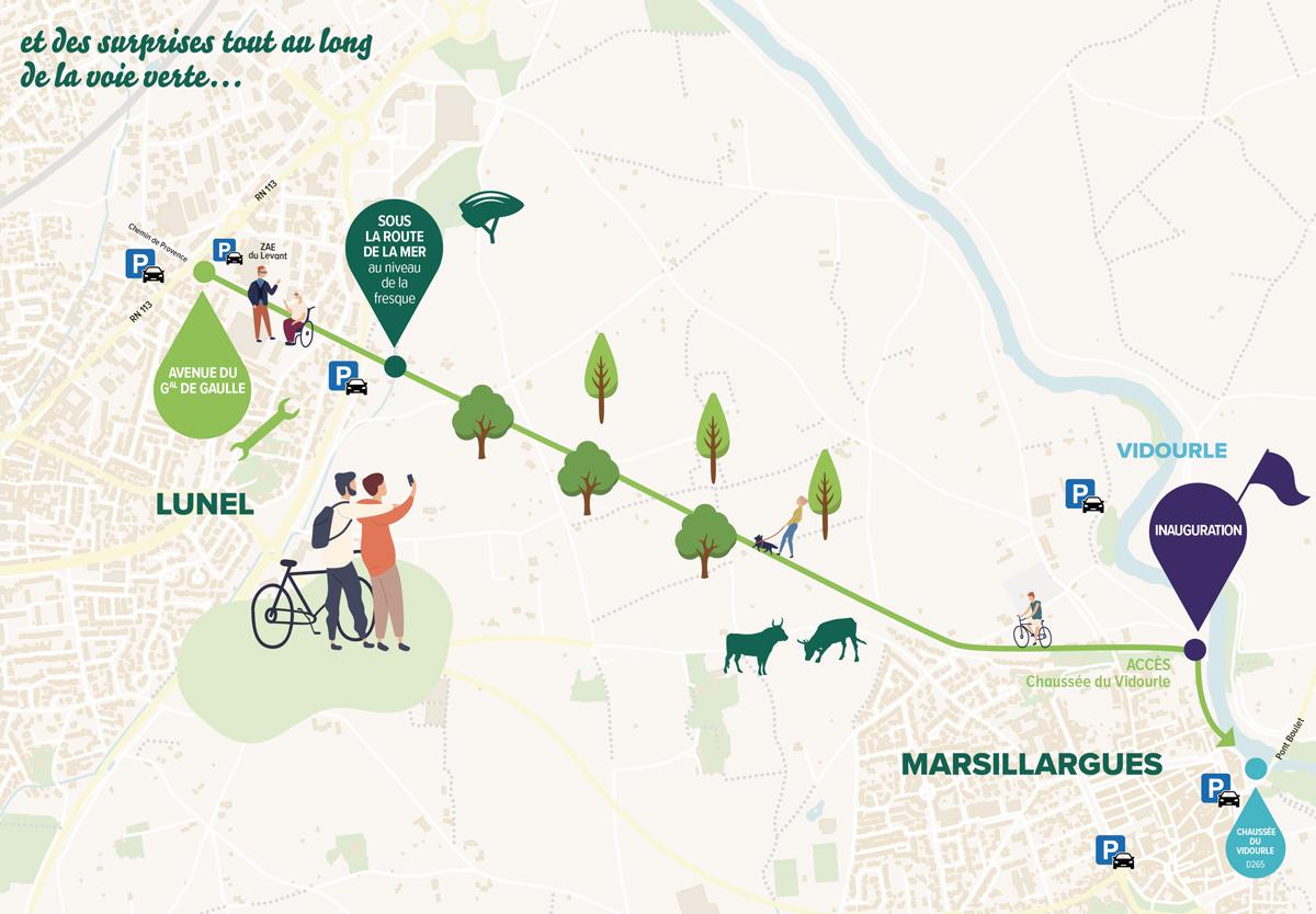 Se rendre, se garer à la Fête de la mobilité le 18 septembre 2021 sur le Pays de Lunel