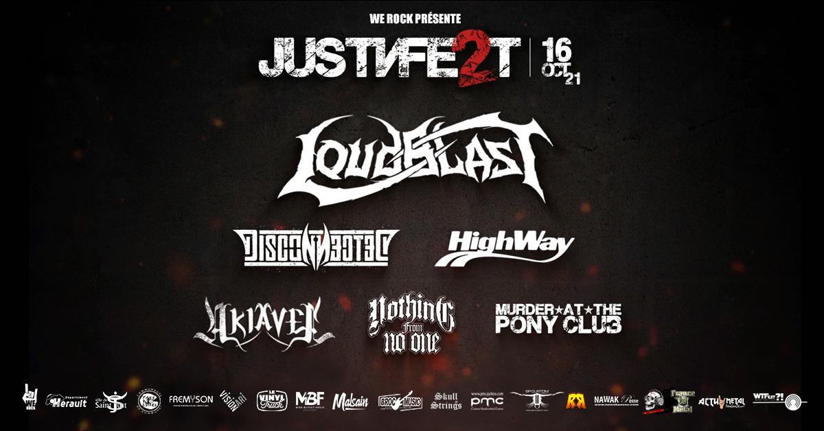Deuxième édition du festival de rock métal JustNFest, le 16 octobre 2021 à Saint-Just